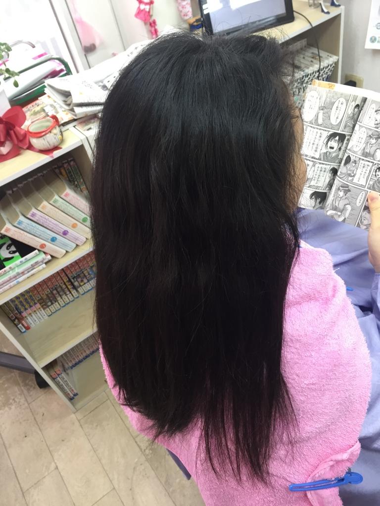 生駒市 中学生の縮毛矯正 髪質改善 美髪 白庭台 艶髪 生駒駅 美容室