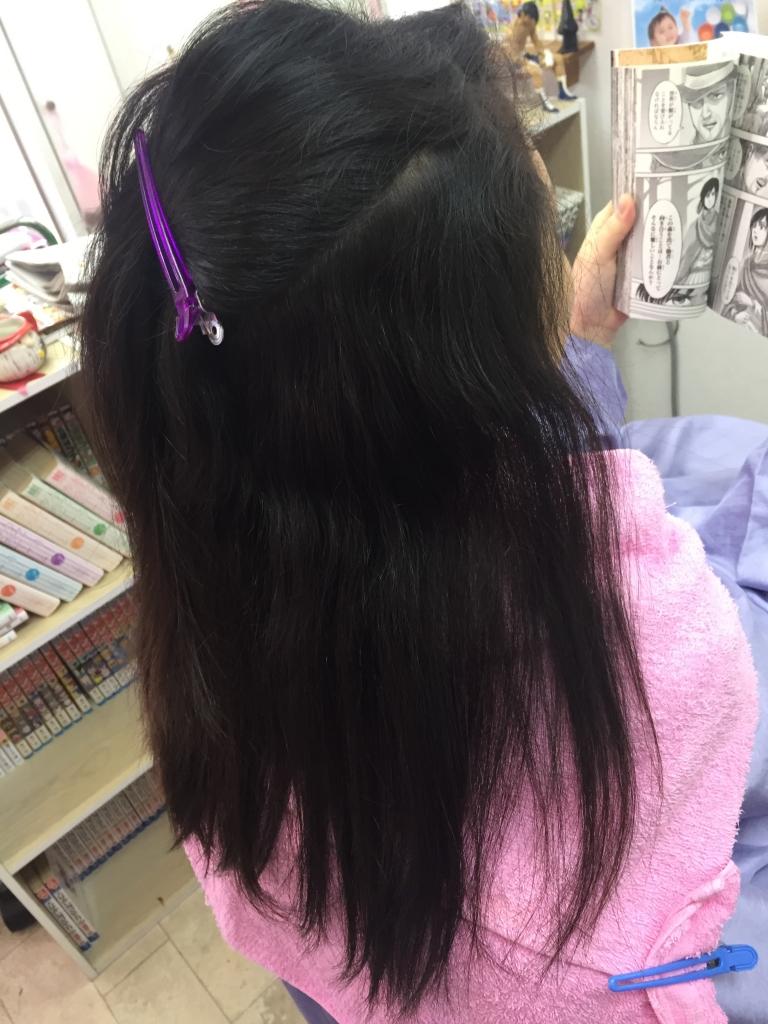 縮毛矯正 生駒市 学生ストレート 髪質改善 北生駒