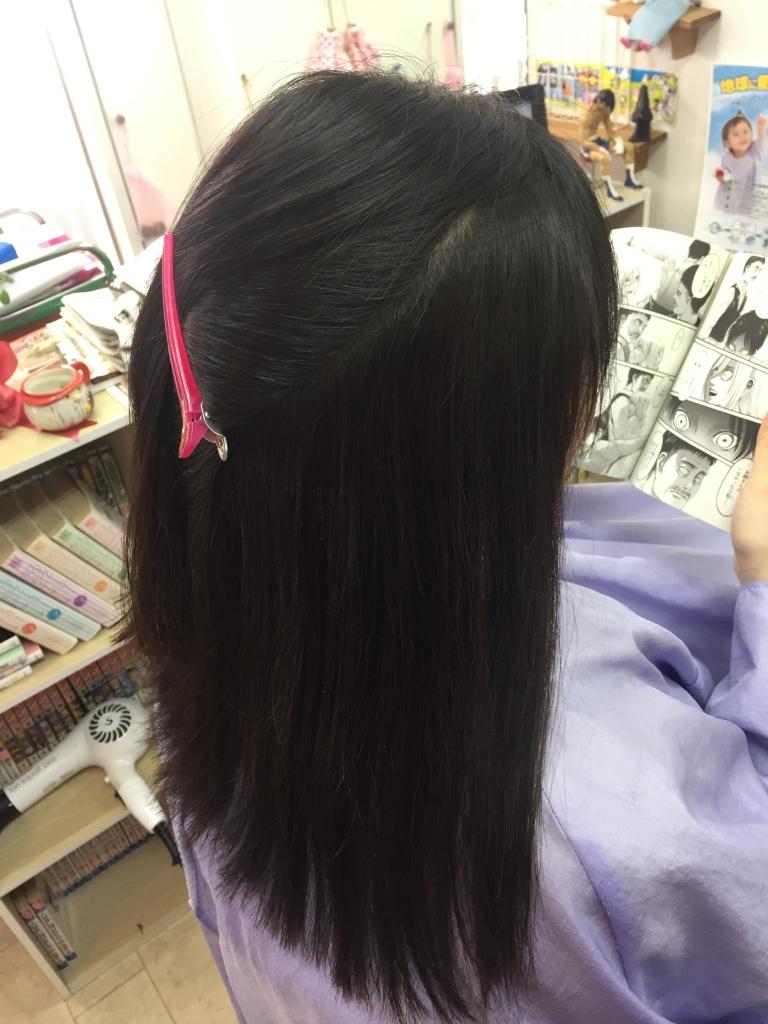 北生駒 髪質改善 白庭台 中学生のストレートパーマ 生駒市