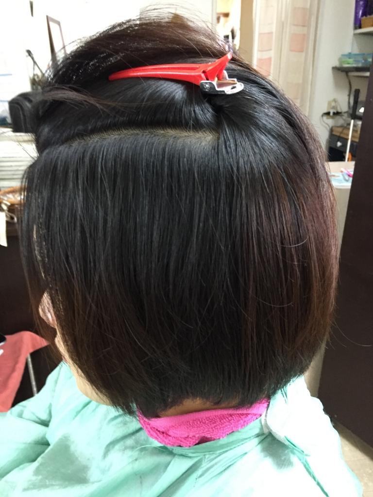 奈良市学園前美容室 丸い縮毛矯正 丸くなるストレートパーマ 西大寺