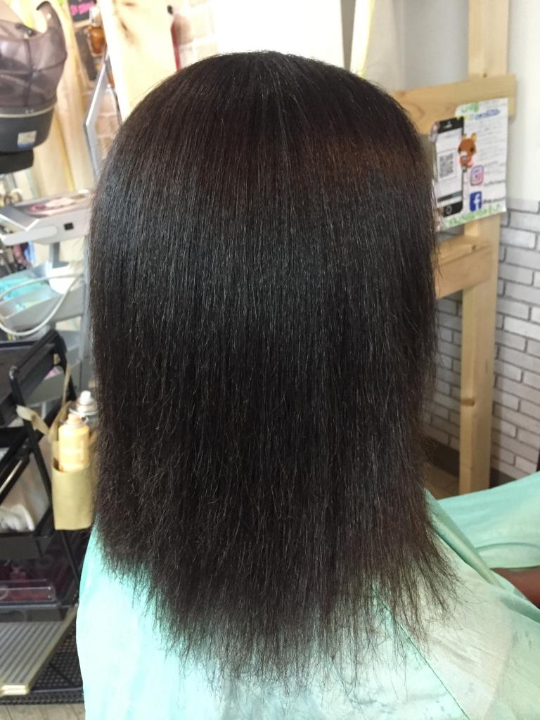 黒人縮毛矯正 ガーナ人縮毛矯正 アフリカ人縮毛矯正