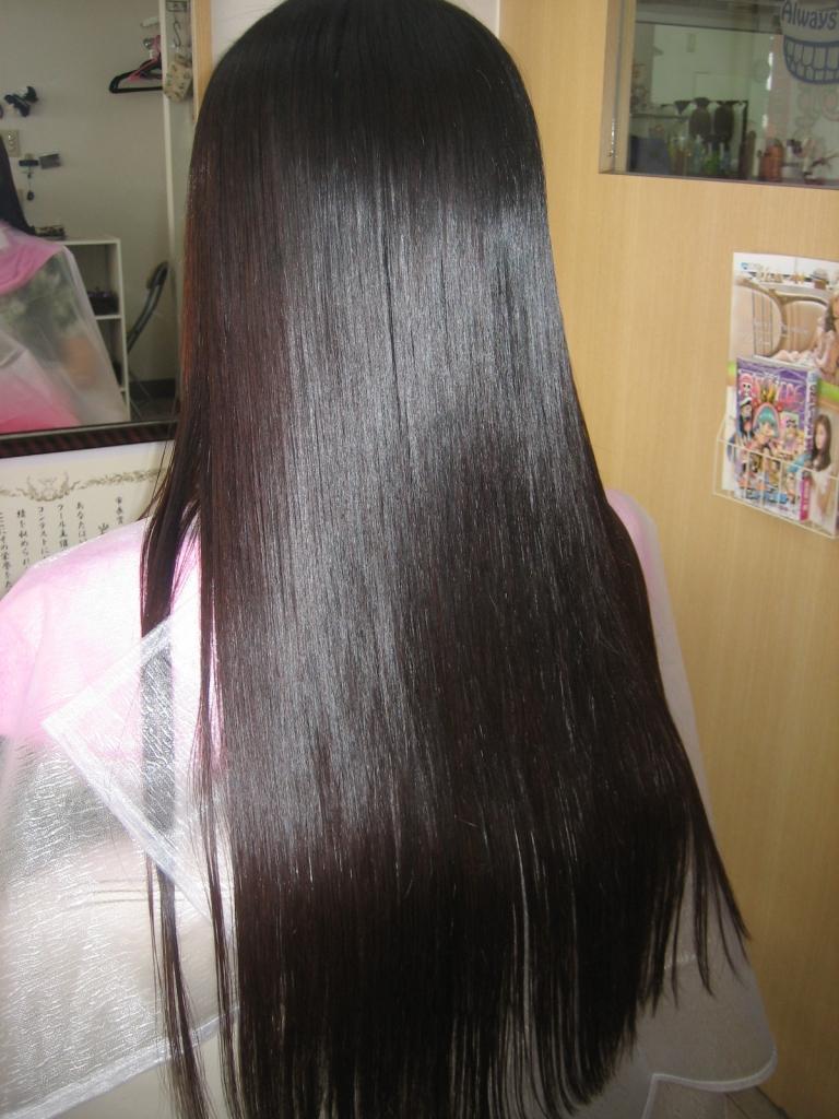 奈良市学園前美容室 髪質改善 縮毛矯正 ストレートヘア 美髪 艶髪