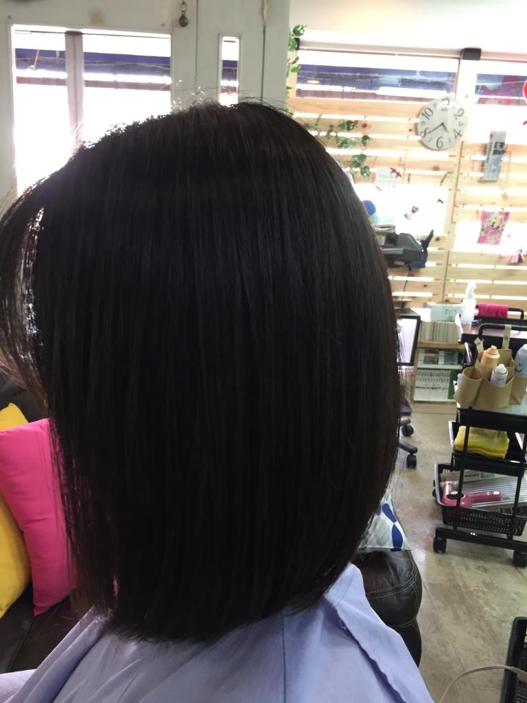 ボブスタイル 奈良 西大寺 美容室 縮毛矯正 痛まないストレートパーマ