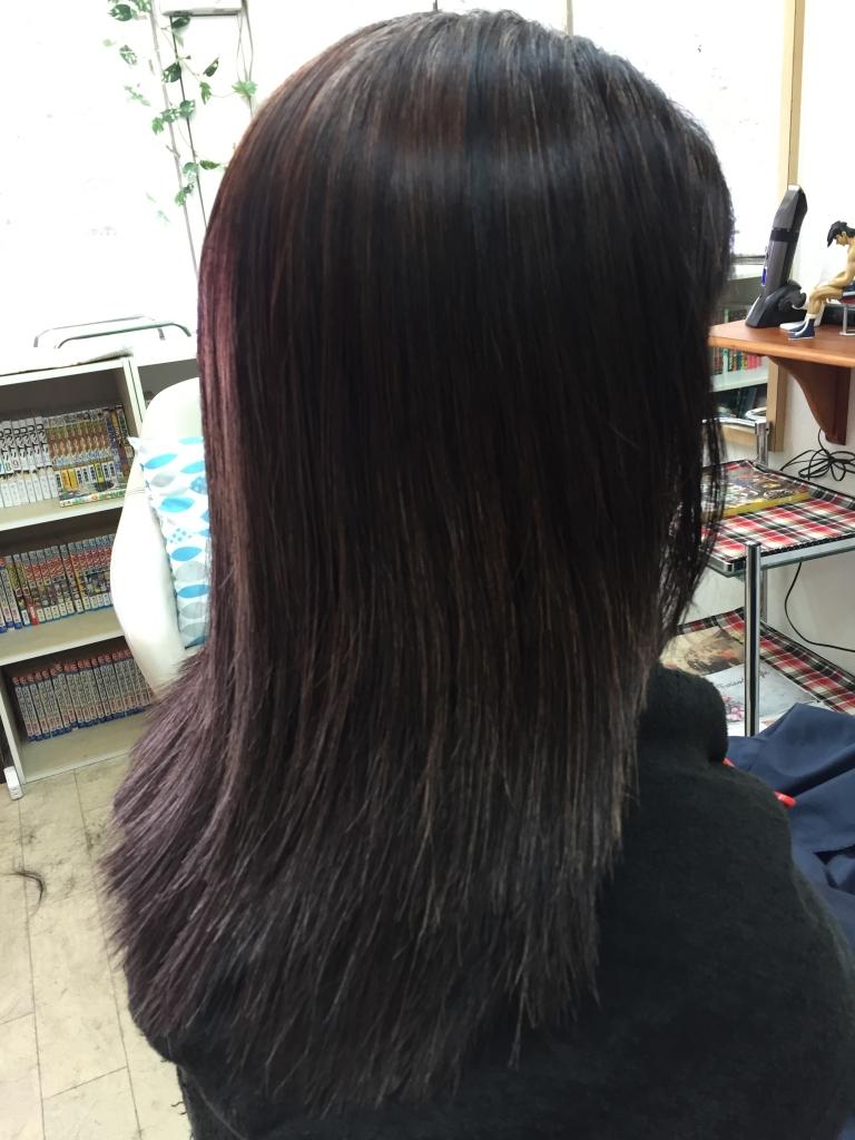 50代のヘアスタイル 縮毛矯正 ヘアカラー
