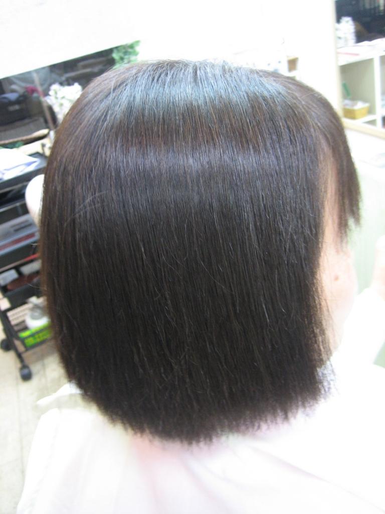 縮毛矯正 60代 奈良 白髪染め