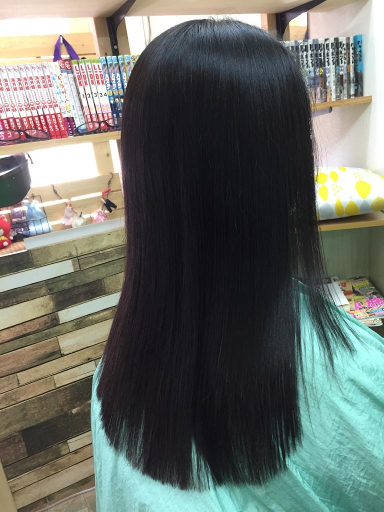 大人っぽい髪 ストレートヘア 奈良市 生駒市 木津川市 縮毛矯正