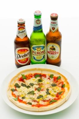 マルゲリータとイタリアンビール