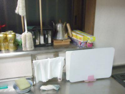 帰宅直後の台所