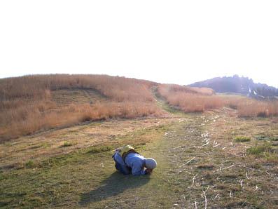 生石高原でのオイラ