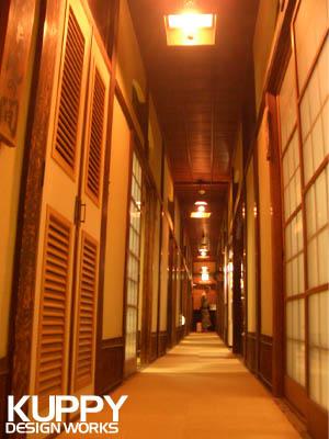 道後温泉本館の三階廊下