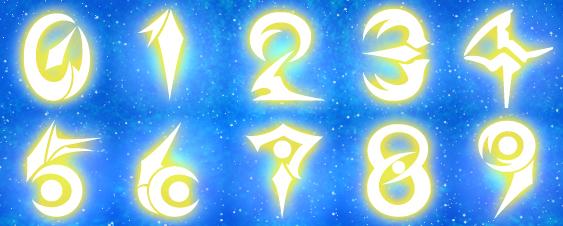 ペンデュラムスケール数字(白発光)
