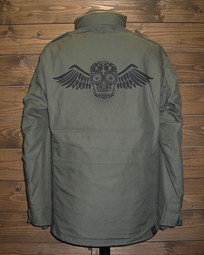 クレイジーロッド/M-65ジャケット/スカル&ウイング