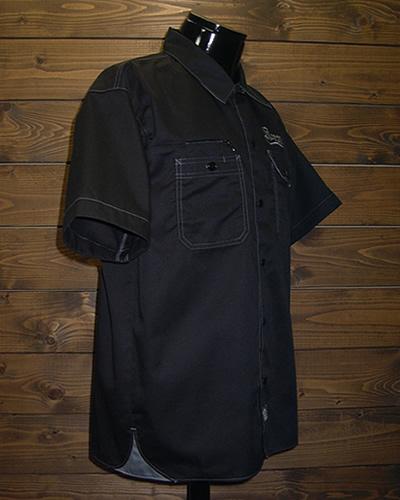 西海岸 スタイル ワークシャツ 黒 BK