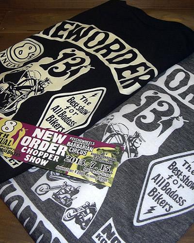 ニューオーダーチョッパーショー 2013 限定 Tシャツ&チケット