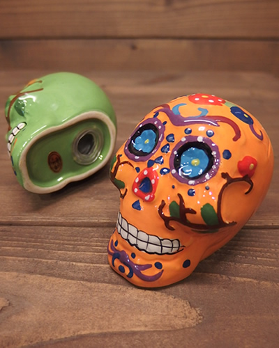 メキシカンスカル ソルト&ペッパー 調味料容器