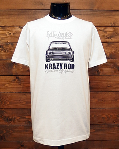 HellsDept x KrazyRod Tシャツ カスタム ダットサン 510