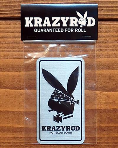 KRAZy ROD メタルステッカー RABBIT HEAD