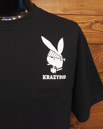 KRAZY ROD ウエストコースト ラビットヘッド ロゴ Tシャツ