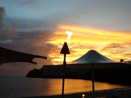 2007.05.15 グアム:夕空とキャンドル