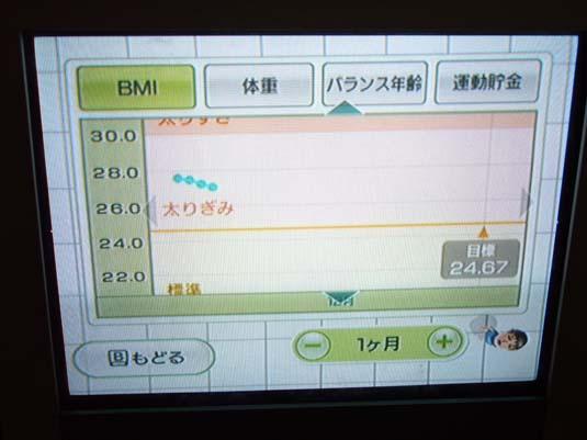 2007.12.06 WiiFit:4日経過:BMI