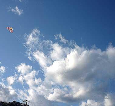 真鶴 岩海岸の空