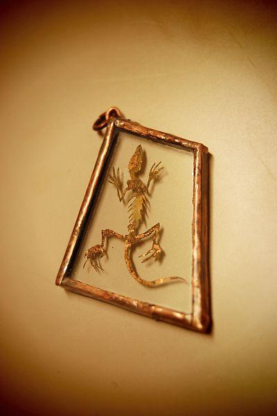 小さな小さな蜥蜴の骨