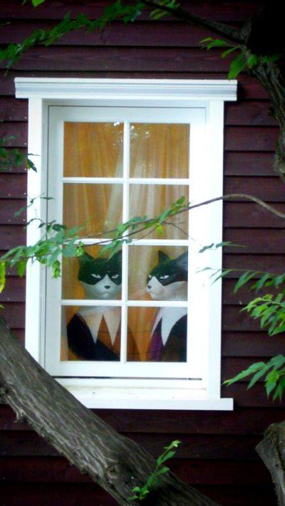 猫はやっぱり窓辺が好き