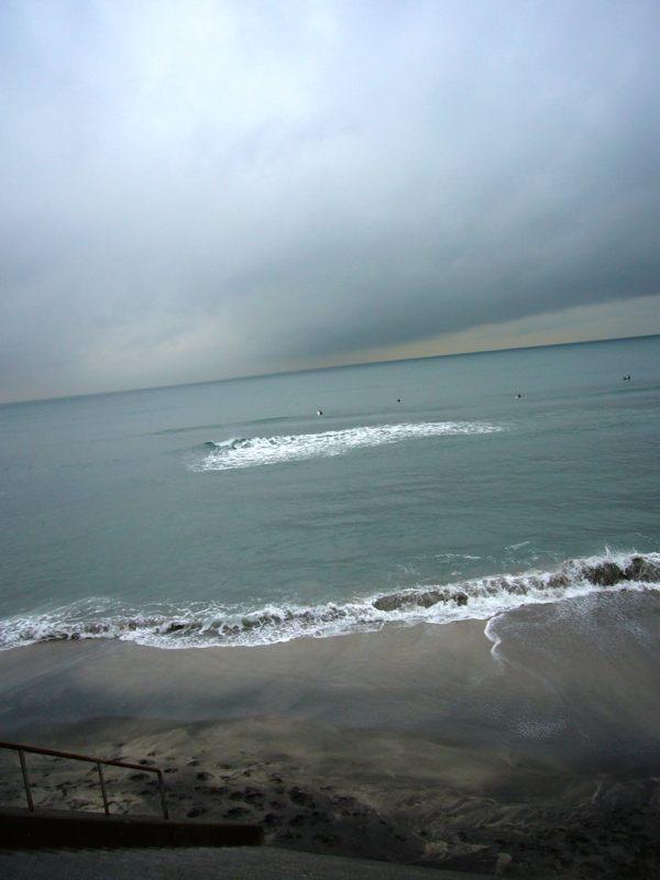 冬の海に雨が降っているので心中でもしなければならない