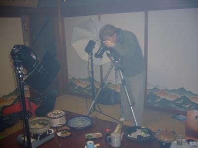 ☆ふぐ料理の撮影の様子�☆