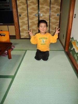☆新しい畳でピース〜♪
