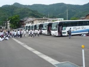 ☆バス7台でお越し下さいました☆ようこそいらっしゃいませ♪