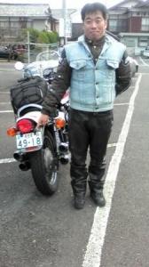 ☆佐世保市からバイクでお越しの、バイク仲間のお一人様です☆