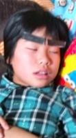 ♪スヤスヤ睡眠中の長女にイタズラ♪(笑)