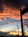 雲がピンクに染まる。主塔から仰ぎ見る04