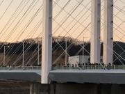初日の出を待つ橋上の人々