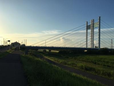 夏空と是政橋
