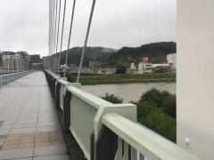 水量を増した多摩川