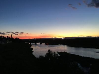 夕景が優しく魅了する