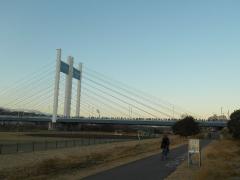 橋上に人垣を見る