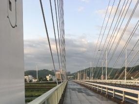 是政橋を稲城方面へ