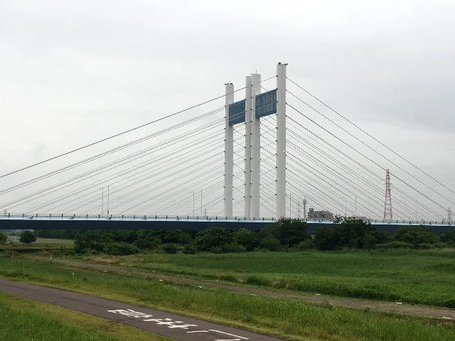 梅雨空の是政橋
