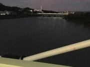 満水の多摩川