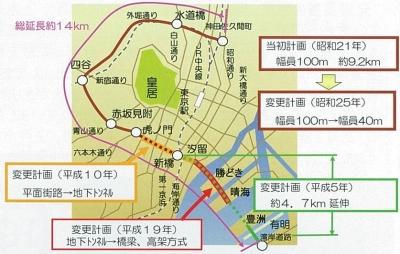 図1 環状第二号線全体図