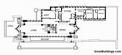 ロビー邸平面図