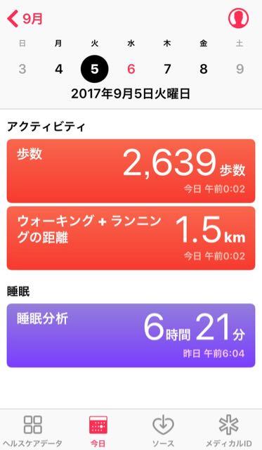 nalblog.com なんとかなる。なんとかする。2017年9月5日(火)健康記録 2017年9月5日(火)雨  歩数:2,639歩 歩いた距離:1.5km 睡眠時間:6時間21分 マインドフル時間:0分  毎年9月は凪のような時期なのですが、こう全てが混沌としていると「このままでいいのかなぁ……」とかついつい考えてしまいます。自分の作品に関して一人で考えても答えの出ないことがあったので、助言を求めてみることにしました。頭と指先ばかり動かしていては神経も鈍ってしまうので、少し散歩をしてお風呂でしっかり温まり、入念にストレッチをして就寝。朝と夜が少し冷えるようになりましたね。衣替えがまだなので、ここ数日の朝晩は、夏服に羊毛の分厚い靴下というちぐはぐな格好で過ごしています。冷えは大敵。温かくして、体内にいらない水を貯めないようにしようと思います。