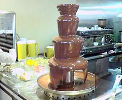 チョコ噴水