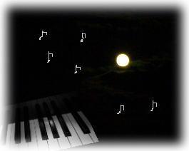 お月さまとピアノ