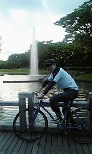 代々木公園の噴水前