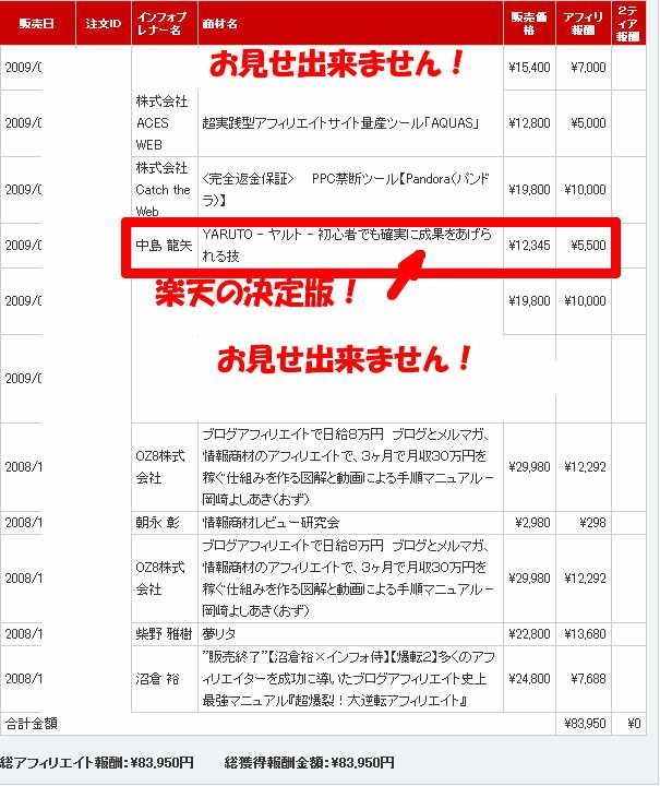 情報商材成果2009-02-11
