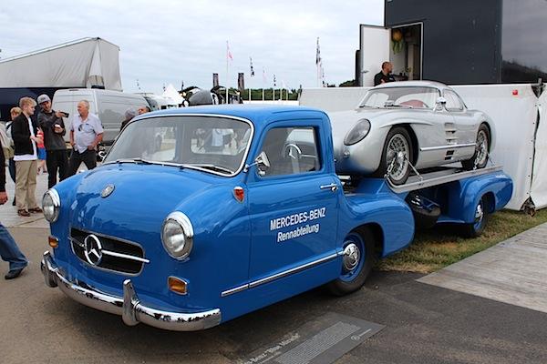mercedes benz blue wonder transporter motor press